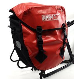 AAWYEAH WATERPROOF BICYCLE TOURING/SHOPPING PANNIER BAG, RED