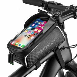 ROCKBROS Bike Front Frame Bag Waterproof Phone Pannier For P