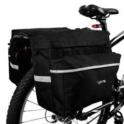 BV Bike Double Panniers Bag Rear Carrier Rack Nylon Seat Tru