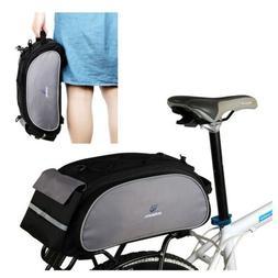 Black ROSWHEEL Bike Rack Pack Seat Bag Rear Pack Trunk Panni