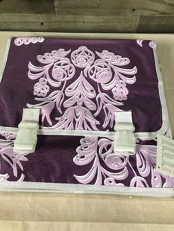 Basil Blossom Double Bag Pannier Bags Purple Lilac Bike