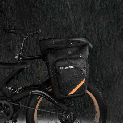 mountain road bicycle pannier cycling rear seat