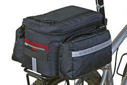 Bushwhacker® Mesa Trunk Bag Black - w/ Rear Light Clip Atta