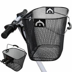 Metals Mesh Bike Baskets Quick Release Foldable Basket Ridin